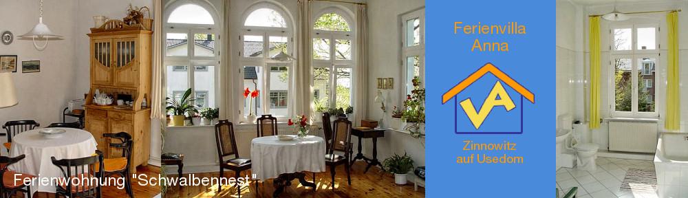 Ferienwohnung Schwalbennest, links: Sitzecke in der Wohnküche, Mitte: Blick in die Veranda, rechts: Blick ins Bad
