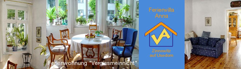 Ferienwohnung Vergissmeinnicht: links + Mitte: Detail und Sitzgruppe in der Veranda, rechts: Blick vom Wohnraum zur Wohnküche